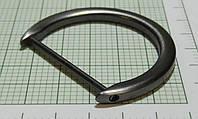 Полукольцо для сумок (Италия) металл, разъемное (матовое, темный никель)