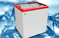 Морозильный ларь JUKA M 200 P, 253л,с прямым стеклом
