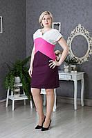 Красивое женское платье Лен р.50-54 V285-02