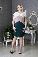 Красивое женское платье Лен р.50-54 V285-03