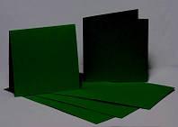 Заготовки для открыток, 5 шт., 15,5 х 15,5 см, цвет зеленый темный, 220 г/м2