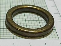 Кольцо для сумок (Италия) металл, литое (состаренное, латунь)