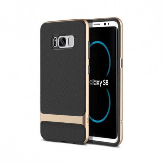 TPU+PC чехол Rock Royce Series для Samsung G955 Galaxy S8 Plus Черный / Золотой