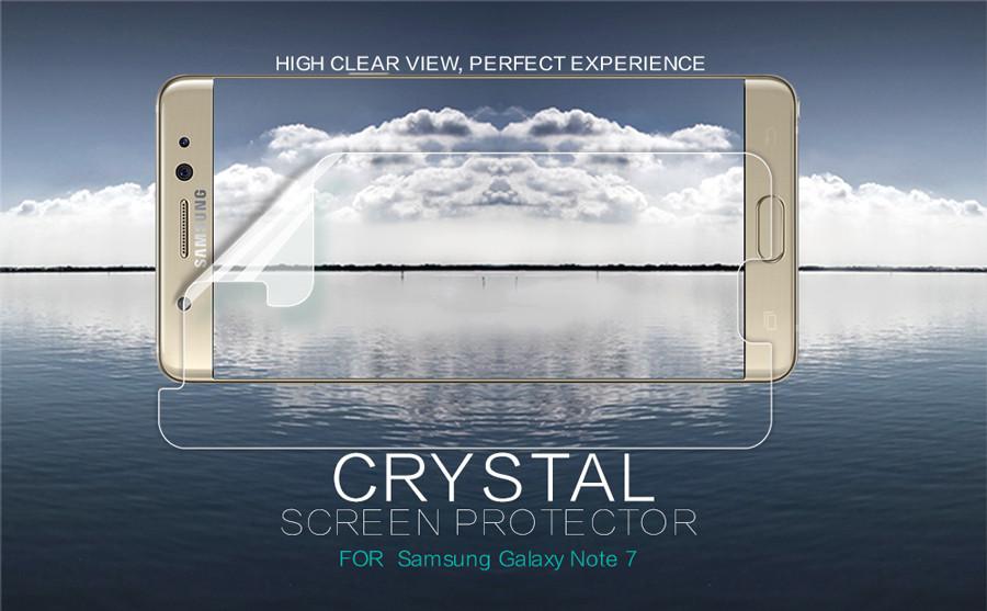 Защитная пленка Nillkin Crystal для Samsung N935 Galaxy Note Fan Edition Анти-отпечатки
