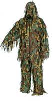 Маскировочный костюм Леший с лоскутами из сетки (куртка и брюки). Расцветка Камыш.