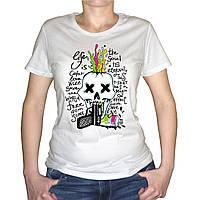 """Женская футболка """"Выстрел в череп"""""""