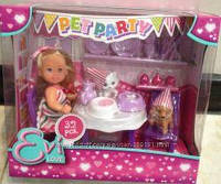 Кукольный набор Эви Вечеринка для домашних любимцев Evi Love 5732831