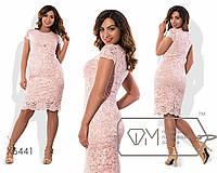Женское нарядное гипюровое платье больших размеров