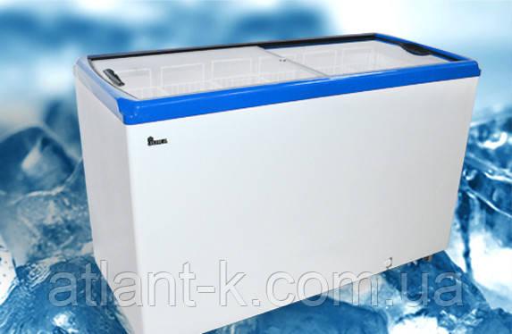 Морозильный ларь JUKA  M 500 P  518 л, прямое стекло