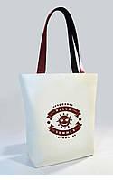 """Женская сумка """"Hello Summer"""" Б393 - белая с коричневыми ручками"""
