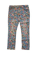 Детские джинсы в цветочки.