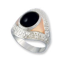 Серебряное мужское кольцо арт 525