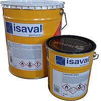 Краска эпоксидная для бетонных полов и железных изделий, 2-компонентная Изалпокс (жемчужно-серый) 16л до 120м2, фото 1