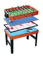 Игровой стол Santos 4 в 1 - футбол, аэрохоккей, бильярд и теннис