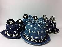 Шляпа джинсовая с ушками детская