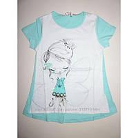 Детские футболки для девочек принт бабочка 3 -5 лет,  Венгрия Emma girl