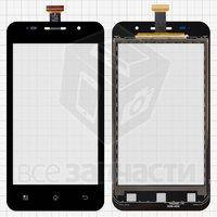 Тачскрин (сенсор) для мобильного телефона Prestigio MultiPhone 4322 Duo, черный