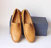 Шикарные кожаные мокасины Gino Moretti, Италия-Оригинал, фото 1