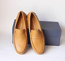 Шикарные кожаные мокасины Gino Moretti, Италия-Оригинал
