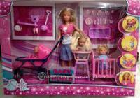 Кукла штеффи с детьми и аксессуарами Simba 5736350