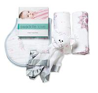 Подарок на рождение (2 пеленки, игрушка-комфортер, слюнявчик), Aden&Anais For the Birds