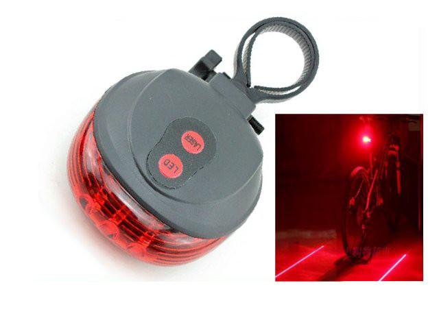 Велофара задняя Габарит маячок с лазерным указателем HH-980
