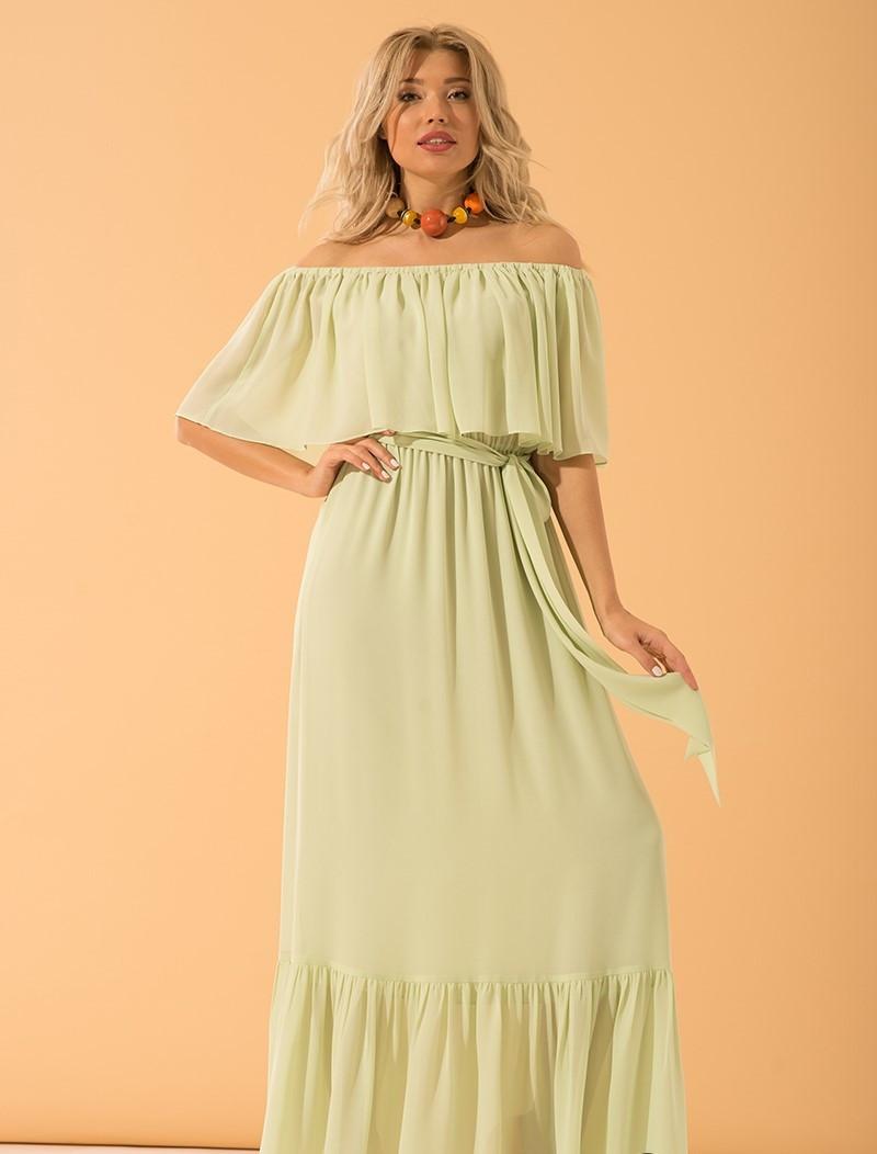 Платье Месини салатовый