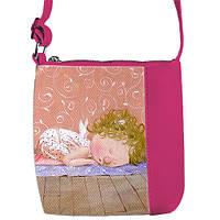 Розовая сумочка для девочки с принтом Гапчинская Йога