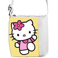 Белая детская сумочка для девочки  Little princess с рисунком Hello Kitty