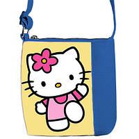 Синяя детская сумочка для девочки Little princess с рисунком Хелло Китти