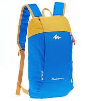 Рюкзак ARPENAZ QUECHUA 10 Л синий с желтым (велосипедный )