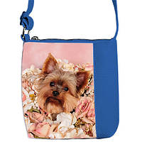 Синяя детская сумочка для девочки Little princess с принтом Йорк