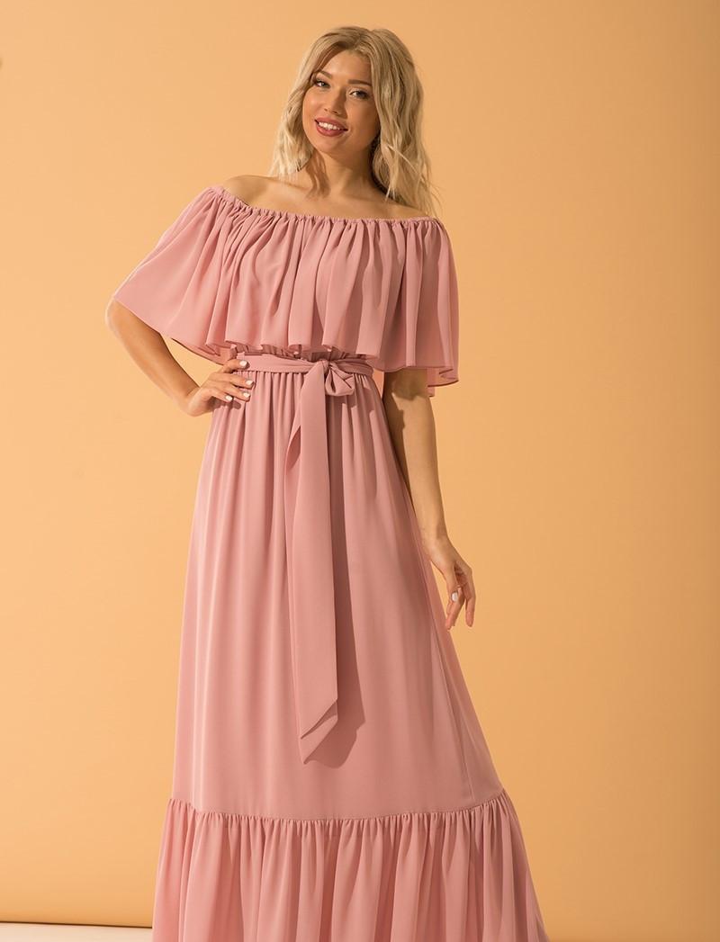 Платье Месини розовый
