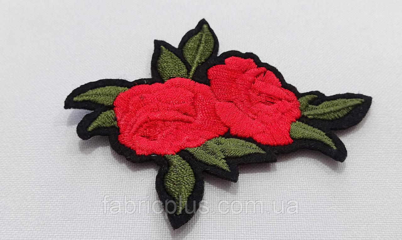 Аппликация (термо)  розы красные