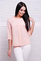 Воздушная блуза  №1821 р. 42-46 персик