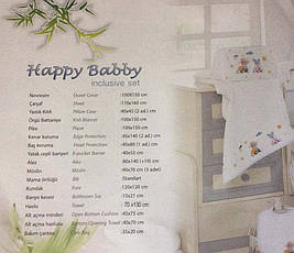Комплект детского постельного белья для новорожденных в кроватку First Choice Hapy baby Mavis, фото 3
