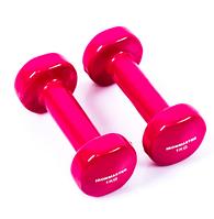 Гантели для фитнеса IRONMASTER 2 по 1 кг. (малиновый)