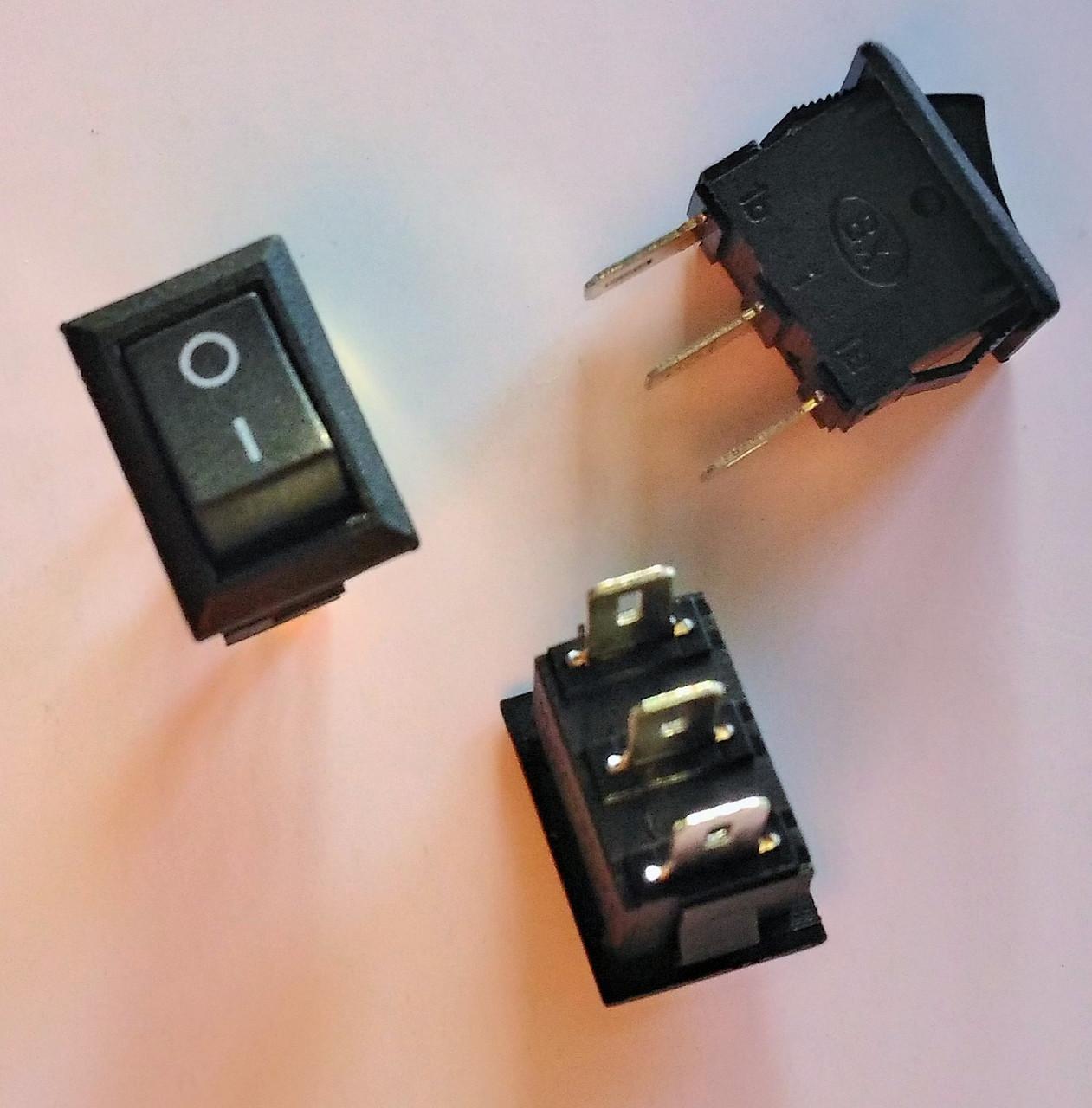 Кнопка, выключатель, тумблер 2 положения 3 контакта. 10*15 мм