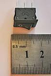 Кнопка, выключатель, тумблер 2 положения 3 контакта. 10*15 мм, фото 2