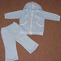 Спортивный костюм детский р.80 светло-голубой