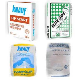 Шпаклевка, гипс и добавки к растворам