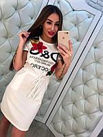 """Женское стильное повседневное платье с карманами """"D&G"""" (3 цвета)"""