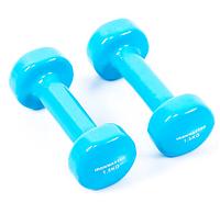 Гантели для фитнеса IRONMASTER 2 по 1,5 кг. (бирюзовый)
