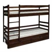 Кровати односпальные / двухъярусные деревянные подростковые