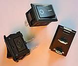 Кнопка, выключатель, тумблер 2 положения 2 контакта. 21*15 мм. 1 шт., фото 2
