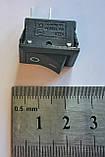Кнопка, выключатель, тумблер 2 положения 2 контакта. 21*15 мм. 1 шт., фото 3