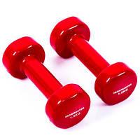 Гантели для фитнеса IRONMASTER 2 по 1,5 кг. (красный)