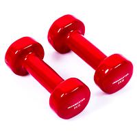 Гантели для фитнеса IRONMASTER 2 по 2 кг. (красный)