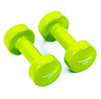 Гантели для фитнеса IRONMASTER 2 по 3 кг. (салатовый)