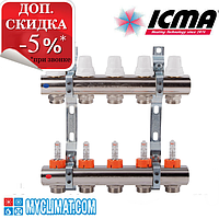 Коллектор Icma на 2 выхода c расходомерами K013-K014
